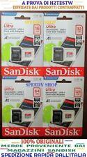Micro SD 16 32 64 128 GB Scheda Sandisk Ultra 98 MB/s CLASSE 10 MicroSD Memoria
