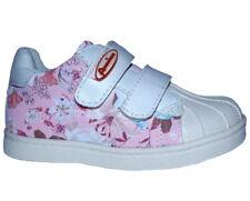 Neu American Club Mädchen Sneaker Halbschuhe Erste Schuhe Blumen Pink Weiß