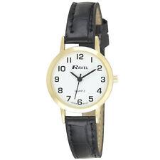 Ravel Ladies Easy Read Quartz Watches White Face R0102 12 MONTHS WARRANTY