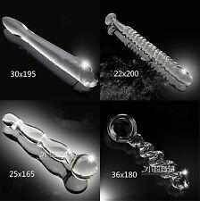 Anal Stimolatore Plug Vetro Glass Fetish 4 Misure Trasparente Sex Dildo Anale