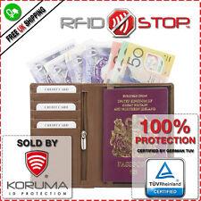 RFID Blocking Travel Wallet Protector Biometric Passport Card Document Holder
