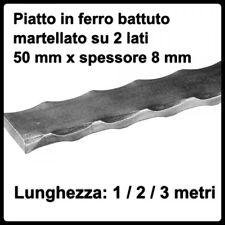 corrimano in ferro battuto 50x8 mm profilo piatto sbarra martellata per ringhier
