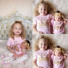Newborn Baby Girls Romper Girls T-shirt Tops +Pants Leggings Outfits Family Set