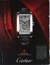 PUBLICITE ADVERTISING  2009   CARTIER   TANK AMERICAINE  montre091112