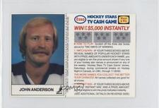 1983 ESSO Hockey Stars TV Cash Game #JOAN John Anderson Toronto Maple Leafs Card