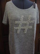 NWT Lane Bryant Hashtag Hash Tag Faux Pearl Graphic T-shirt Tee Top 1X 2X 3X 4X