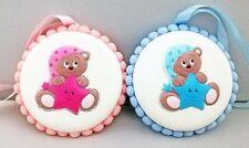 Locket Crib Baby Little girl Silver With Alarm Teddy Bear bear Pink Light blue