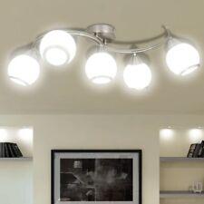 vidaXL Lampada da Soffitto Diffusori Vetro a Onde 5 Lampadine E14 Lampadario