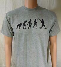 BASEBALL EVOLUTION T-SHIRT...S-XL 2X...grey black ink bat glove helmet batting