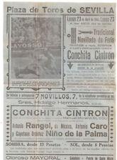 CARTEL DE TOROS. PLAZA DE TOROS DE SEVILLA