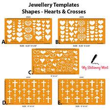Diseño de joyas corazones Cruces Piedra de piedras preciosas de plantilla de Plantilla Dibujo Elaboración