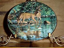 Friends of the Forest VELVET REFLECTIONS Danbury Mint BRUCE MILLER DEER PLATE