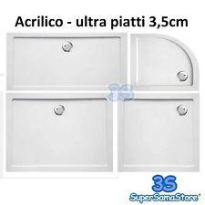 3S PIATTO DOCCIA ACRILICO DESIGN MODERNO ultra piatto 3,5 cm ANTISCIVOLO NUOVO