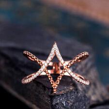 Fashion Infinity Women White Sapphire Rose Gold Filled Wedding Ring Size 6-10