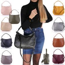 Leder Tasche Hand Schulter Umhänge Tasche Beutel Italy Hobo Bag Shopper A12 NEU