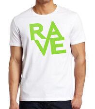 Men's Neon Polka Dot Rave White T Shirt Party Music Feast Spring Break EDM Dance