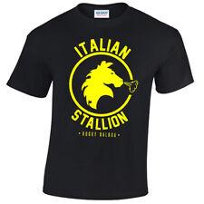 Stallone Italiano da Uomo T-shirt Rocky Balboa Boxing Palestra Allenamento Top Costume