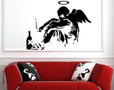 Banksy Graffiti 'Fallen Angel' Art vinyl wall stickers decorations 30cm x 40cm