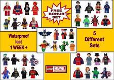 LEGO SUPERHEROES TATTOOS batman superman temporary tatto WATERPROOF LAST 1WEEK +