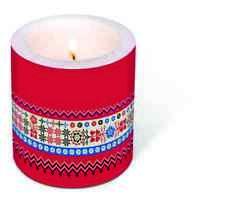Skandinavische*Weihnachten*Dekorkerze*HYGGE Border*