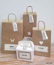 Carta personalizzata stile vintage matrimonio regalo sacchetti partito favore tessuto marrone
