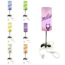 Kinderzimmer Leuchte Tischleuchte Nachttischlampe personalisiert  Eule