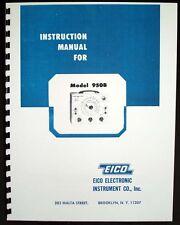 Eico Model 950B Resistance-Capacitance-Co mpactor Bridge Instruction Manual
