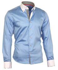 Herrenhemd Herren Hemd Satin Baumwolle Binder de Luxe hellblau 80801 Hemden
