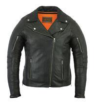 Women's Modern Longer Belt-less Rider Bike Motorcycle Jacket Daniel Smart DS894