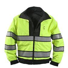 Rothco 8720 Black Reversible Hi-Visibility Uniform Jacket