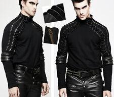 Sweat haut pull gothique punk steampunk col zippé bronze lacé armure Punkrave