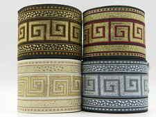 Jacquard Woven Ribbon Trim Greek Key *Various colours available 2.7'' per yard