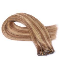 #18-24 Gesträhnt Tape In / On Hair Extensions Echthaar Strähnen Haarverlängerung