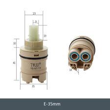 US 35mm Ceramic Cartridge Large Flow Water Mixer Tap Valve Home Faucet Accessory