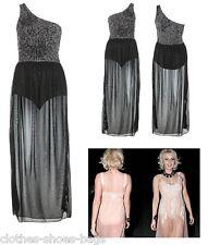 TOWIE Embellished Devore Maxi Dress Bodysuit Miss Selfridge 6 8 10 FREE P&P TS8