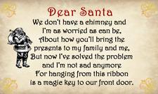 Da 63x Stile Vintage Santa'S MAGIC KEY appiccicoso Etichette/Adesivi (21 per foglio)