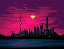 Shanghai Comic-Con China Sunset Dan Mumford Chroma Fine Art Silk Screen Print