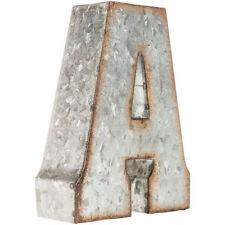 """7"""" Marque Galvanized Vintage Style Metal 3D ABC ALPHABET Letters Sign"""