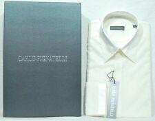 Uomo Camicia Carlo Pignatelli Elegante Bianca Lucida chemise Hemd Shirt рубашка