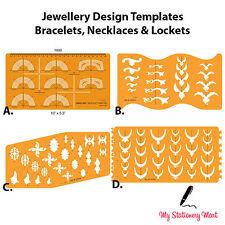 Plantilla de diseño de joyas Pulsera Collar Colgante de Plantilla Dibujo Elaboración