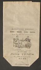 """ALBI (81) SAC en PAPIER Publicitaire de l'EPICERIE """"Jules TENES"""" en début 1900"""