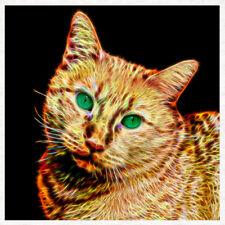 Gato, Fractal Alambre tapicería textil llama, panel de artesanía