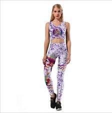 Wide Belt  legging Set Floral & Unicorn printed legging set bra+legging S-XL