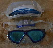 Delphin Wassersportbrille Schwimbrille Panorama Seitenfenster + Aufbewarungsbox