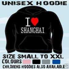 I LOVE HEART SHANGHAI CHINA UNISEX HOODIE HOODED TOP