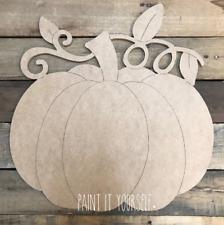 Door Hanger Fall Vine Pumpkin Cutout, Unfinished Shape, DIY KIT