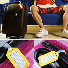 10X Kofferanhänger Gepäckanhänger Kunststoff Namensschild Adresse Reise