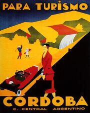 POSTER CORDOBA ARGENTINA GOLF SPORT TRAVEL TOURISM VINTAGE REPRO FREE S/H