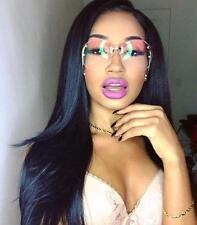 Vintage Oversized Rimless Large Round Clear Lenses Women Big XXL Sunglasses