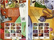 GREAT BRITAIN 2008 JAMES BOND PAIR OF PRESTIGE BOOKLET PANES FINE USED.